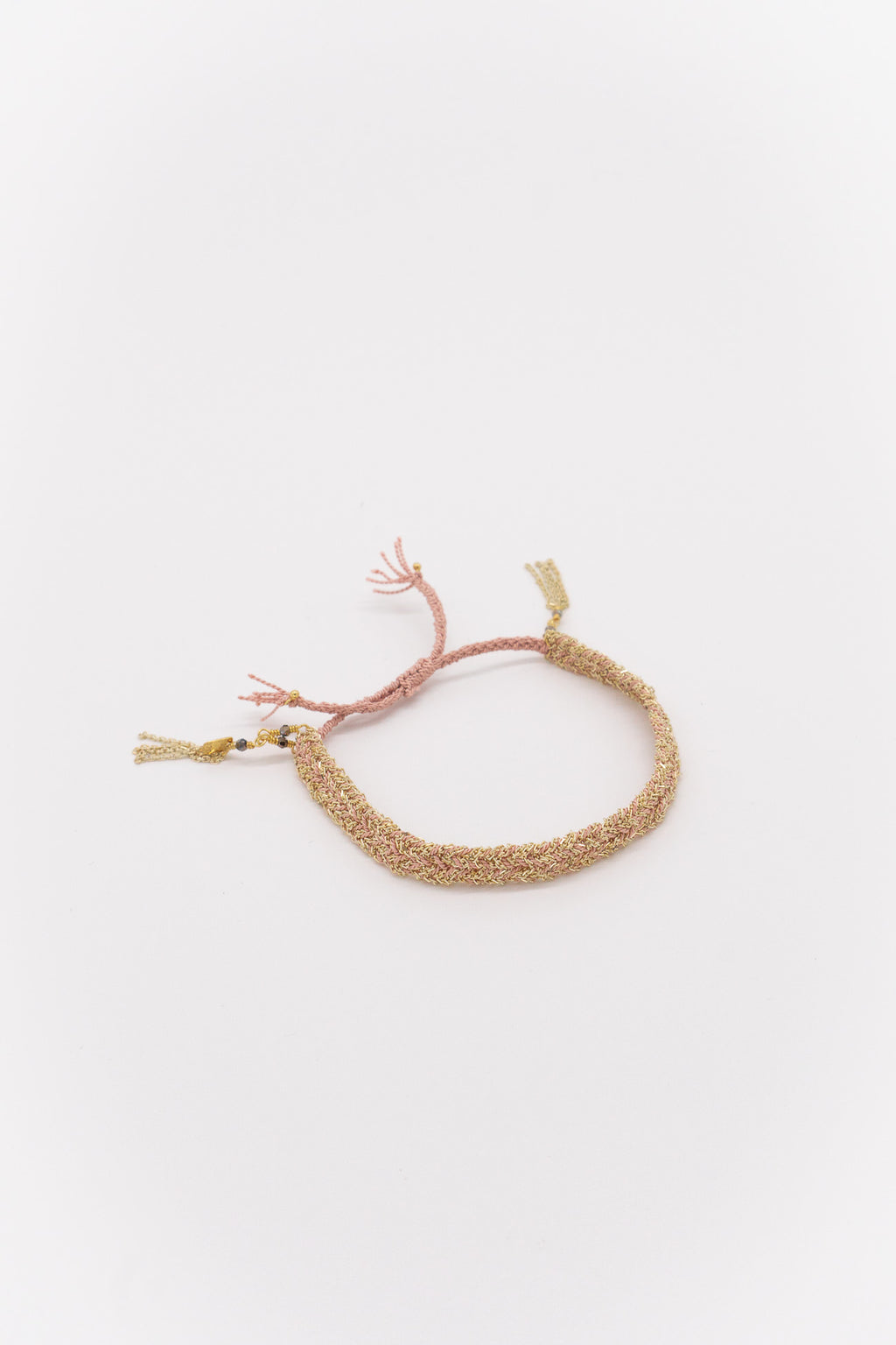 Marie Laure Chamorel Plaited Bracelet in Gold Nude