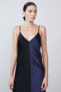 Allen Schwartz Risa Color Blocked Slip Dress