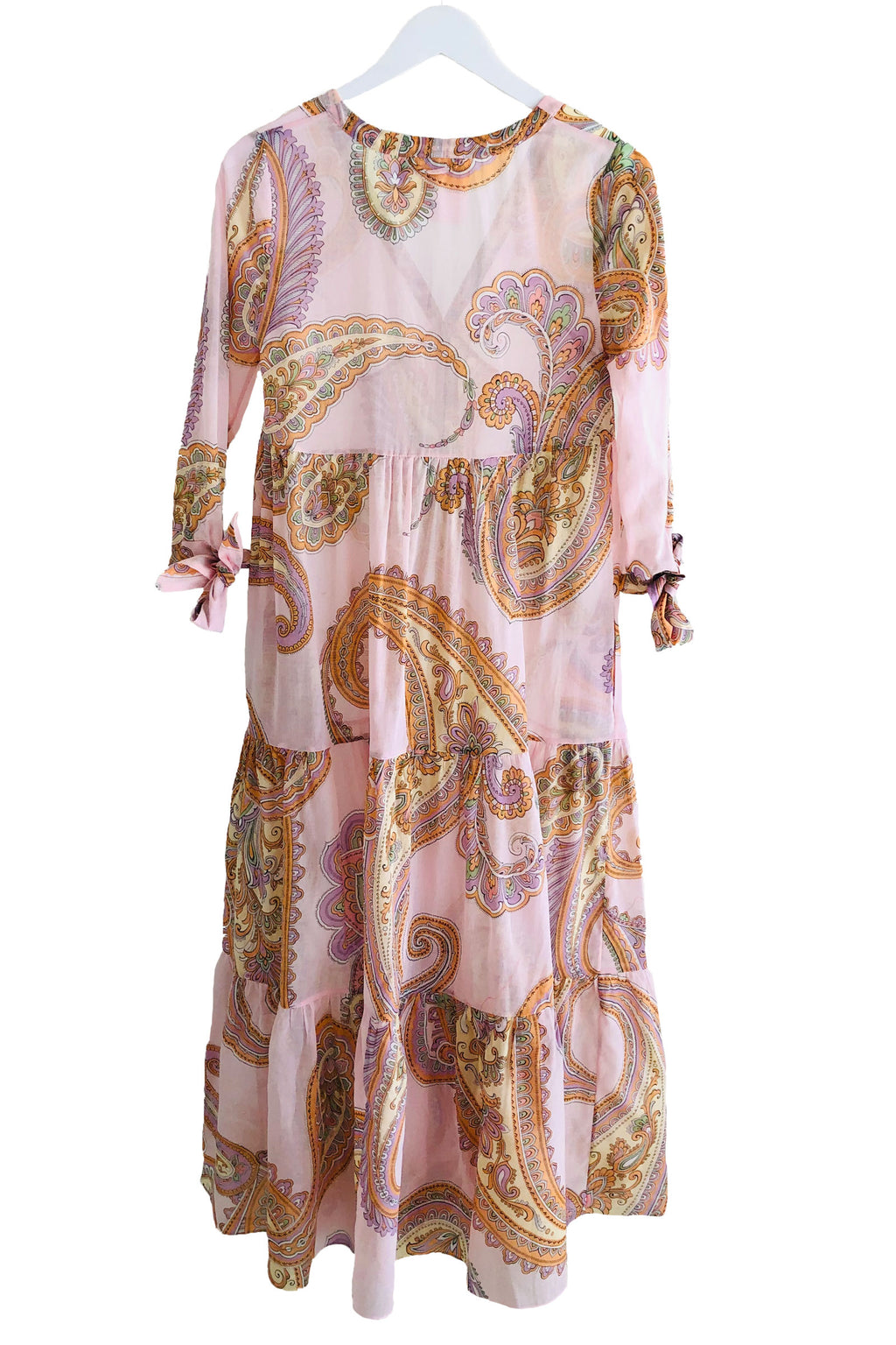 Loup Charmant Tonino Tiered Dress In Pink Paisley