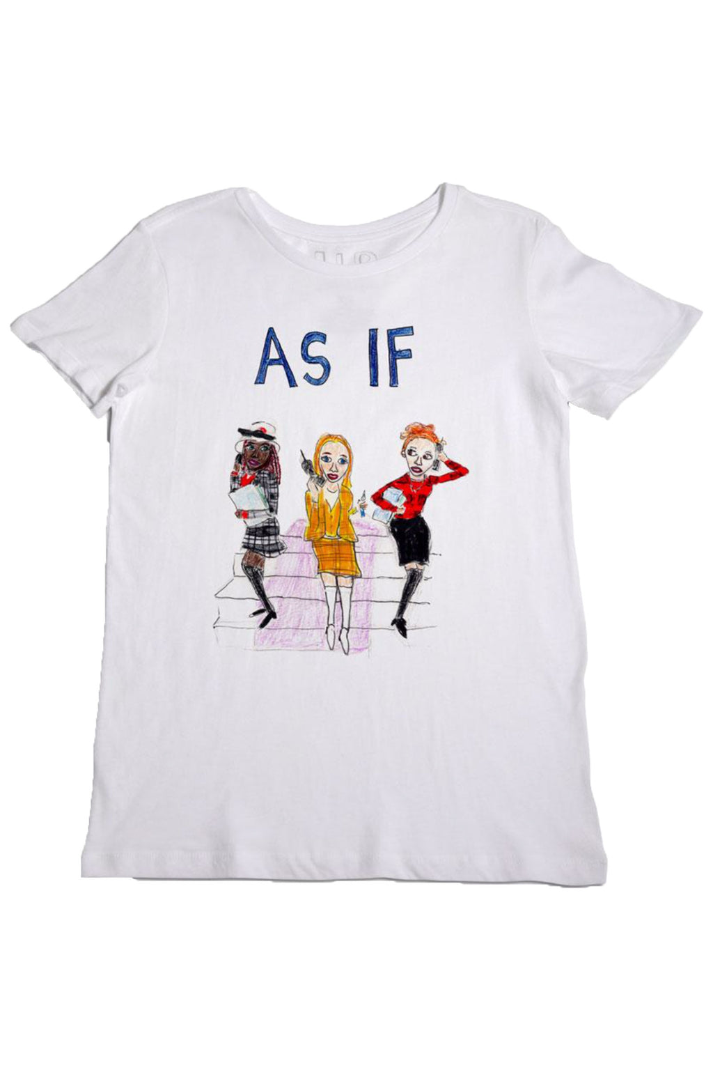 "Unfortunate Portrait ""As If"" T-shirt  in White"