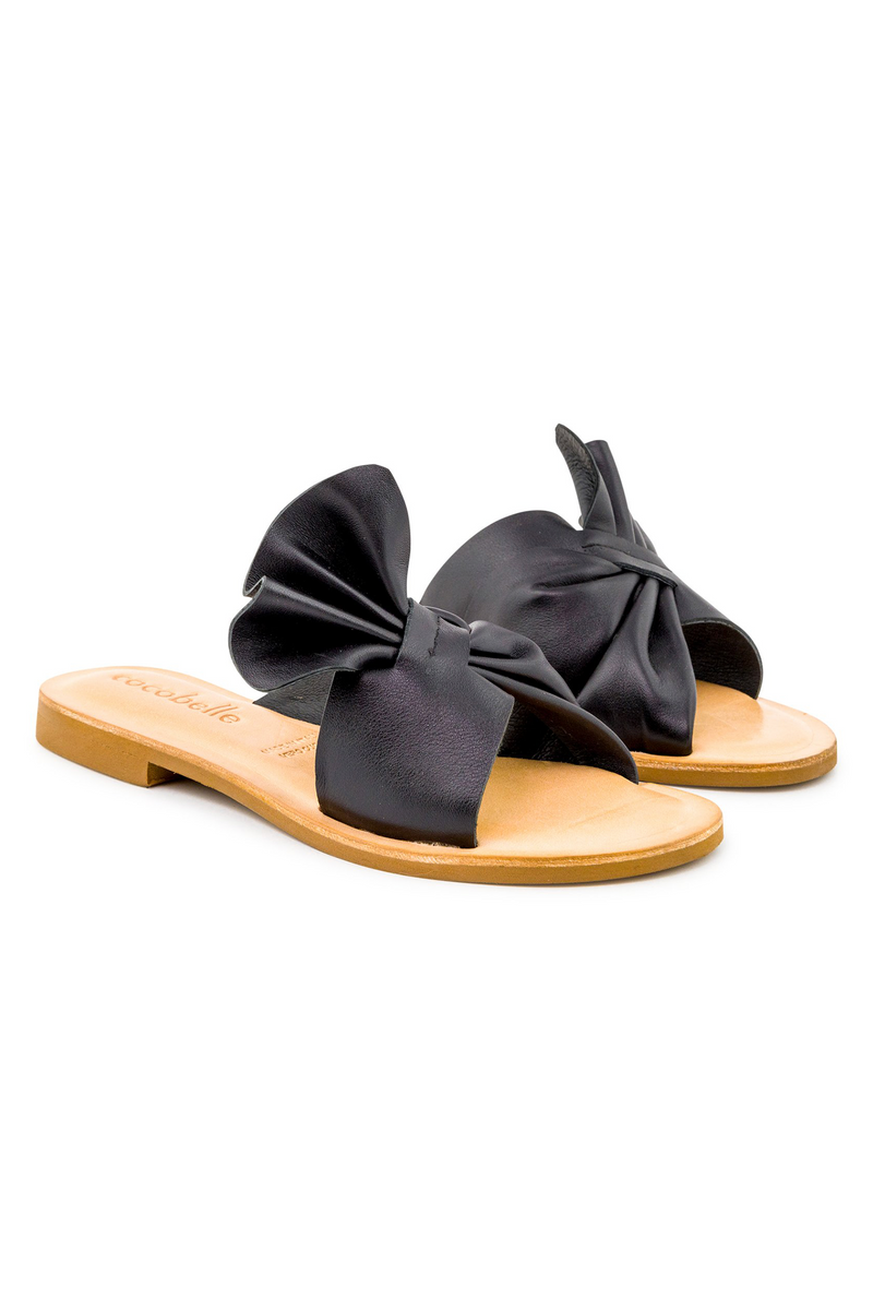 Cocobelle Brera Leather Sandal in Black