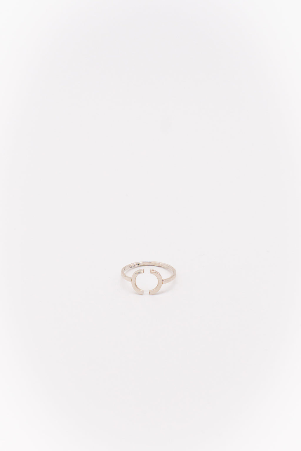 Melissa Joy Manning Sterling Silver Open Semicircle Ring