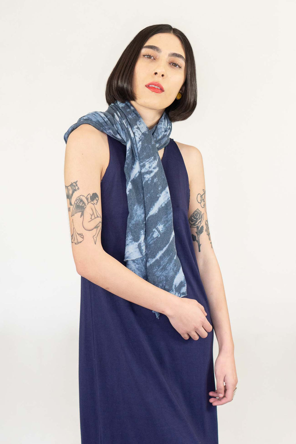 Raquel Allegra Square Scarf in Water Tie Dye