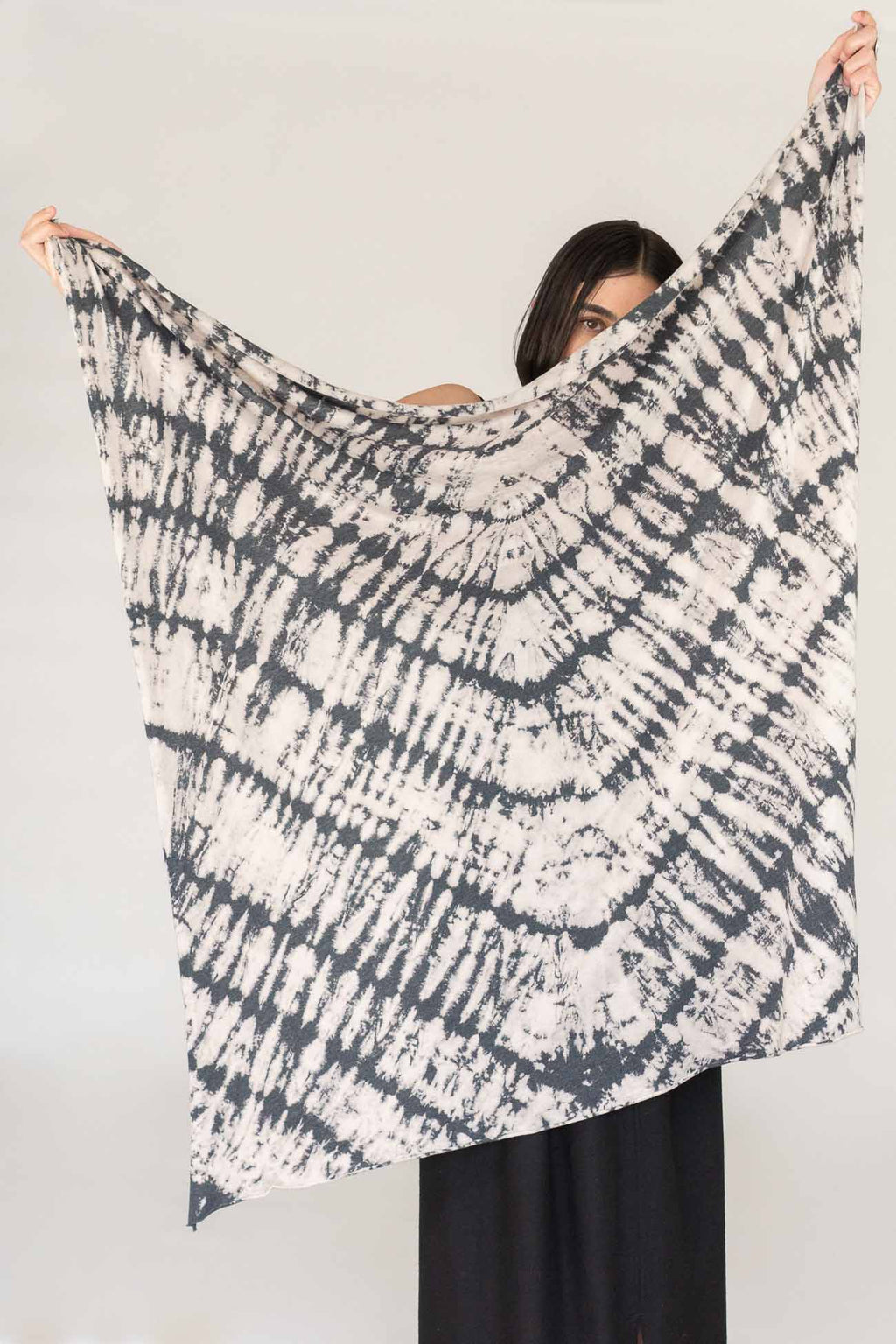 Raquel Allegra Square Scarf in Charcoal