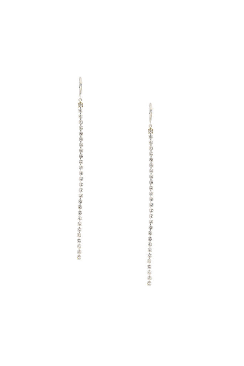 Paloma Wool Ingrid Crystal Long Earrings