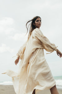 HInnika Choo Frida Wailes Smock Maxi Dress in Nude