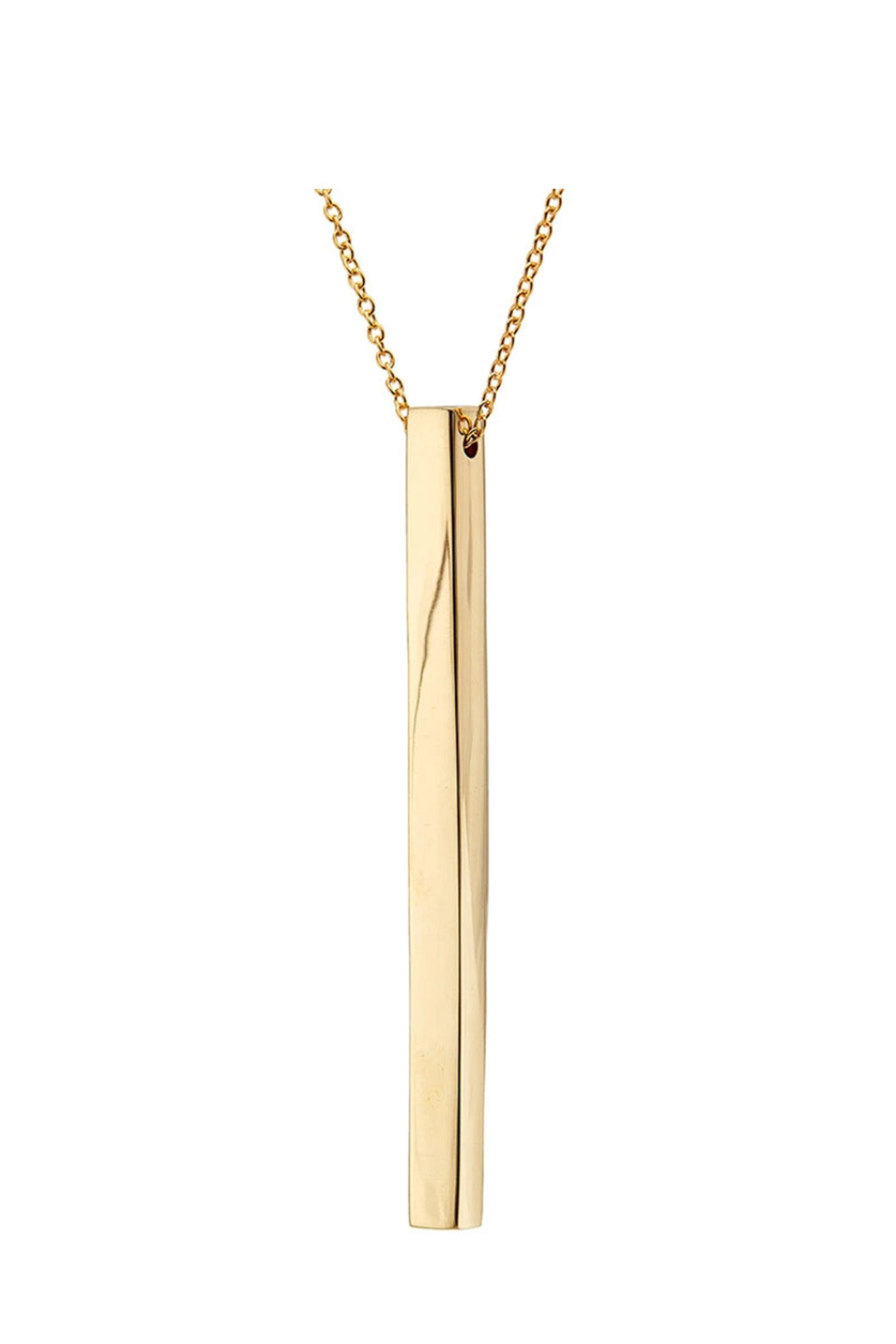 Soko Thin Bar Pendant Necklace in Brass