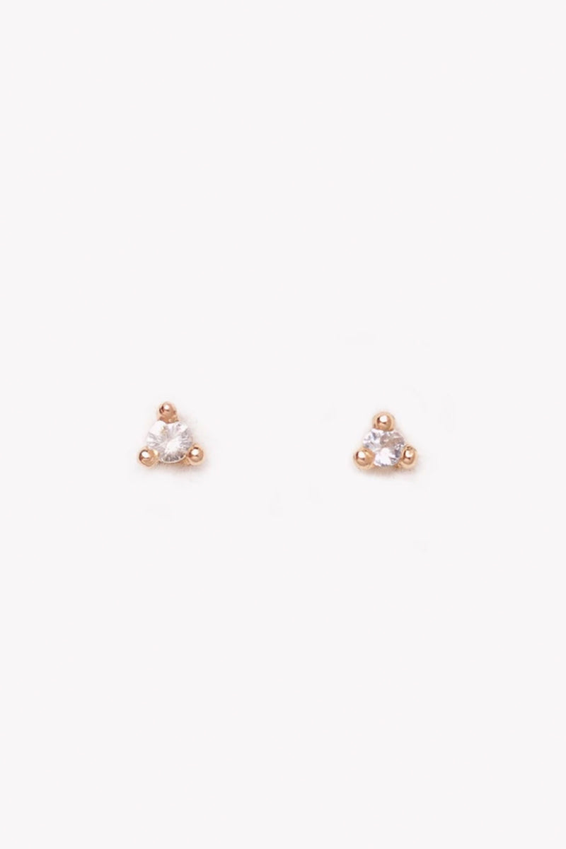 Valley Rose Etoile Yellow Gold Ethical Diamond Studs
