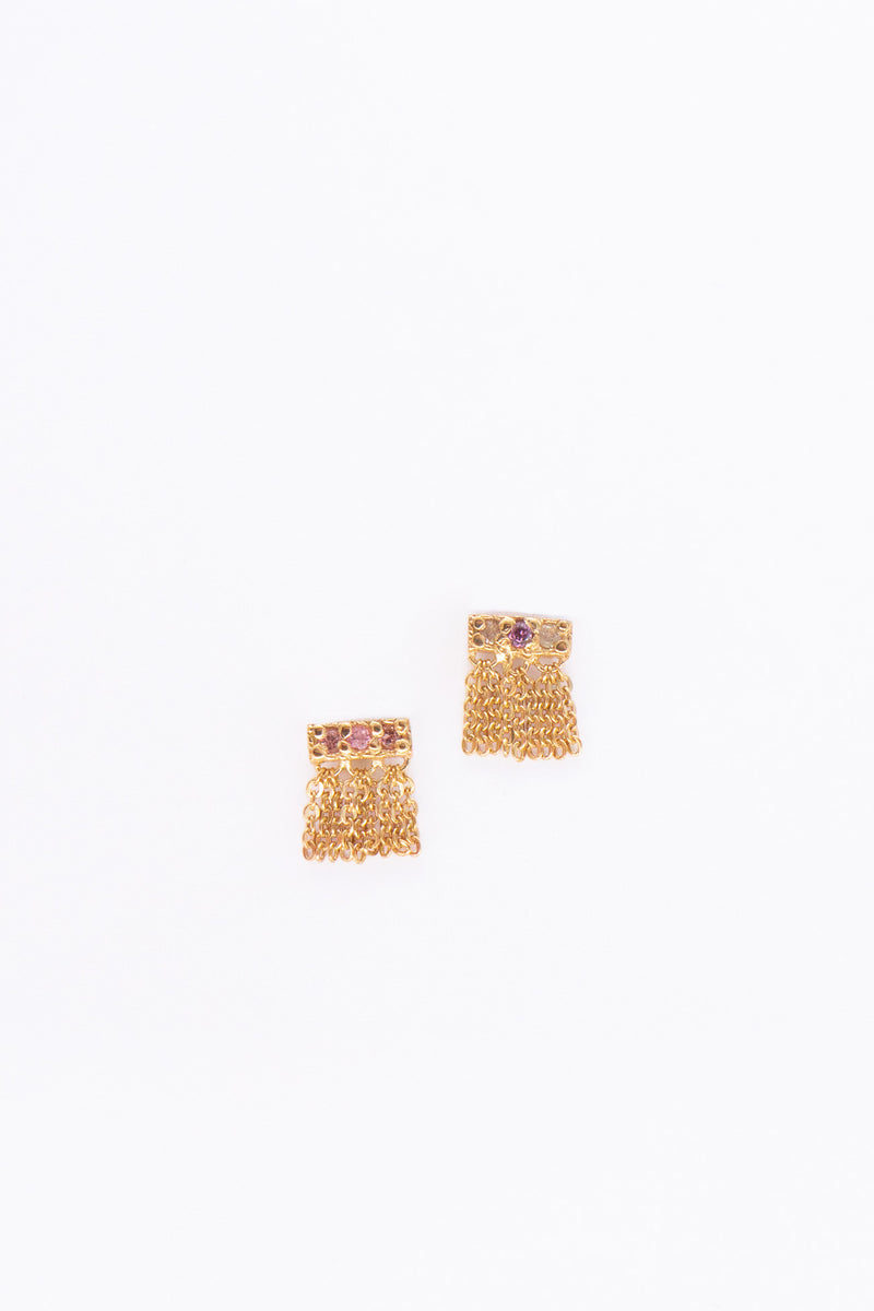 Marie Laure Chamorel Drop Fringe Earrings in Gold Mutlico