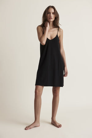 Skin Sexy Pima Cotton Slip In Black
