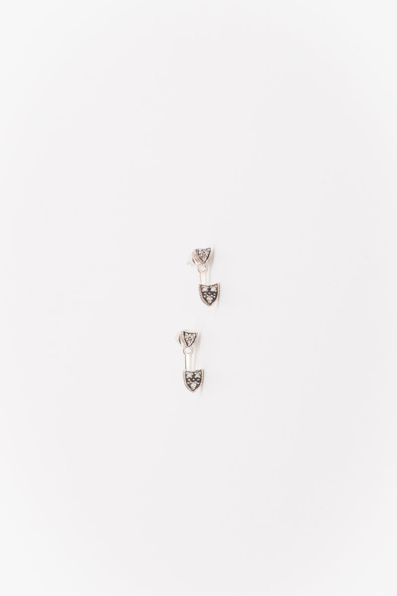 Marie Laure Chamorel Argent Massif Earrings in Antique Silver