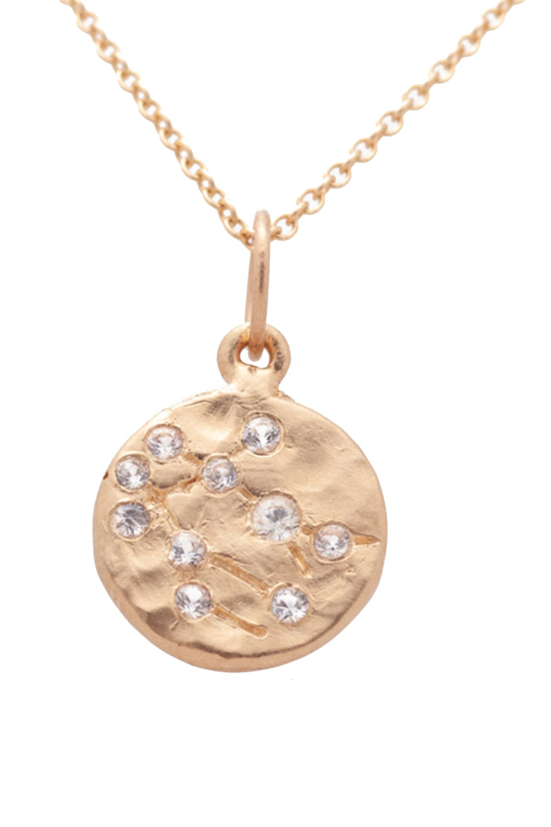 Valley Rose Gemini Constellation Necklace in White Sapphire