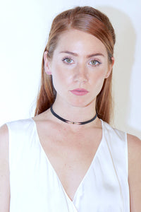 IL Design Choker Burn Beaded Flame Necklace