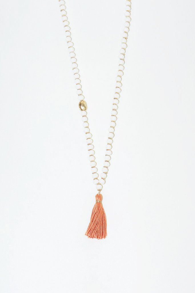 IL Design Hara Necklace with Orange Tassel