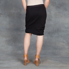 Skin Marla Pima Rib Skirt in Black