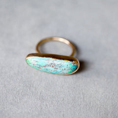 Melissa Joy Manning Turquoise Ring in Gold