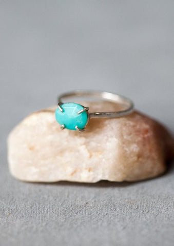 Melissa Joy Manning Sterling Silver Turquoise Ring