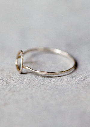 Melissa Joy Manning Sterling Silver Triangle Ring