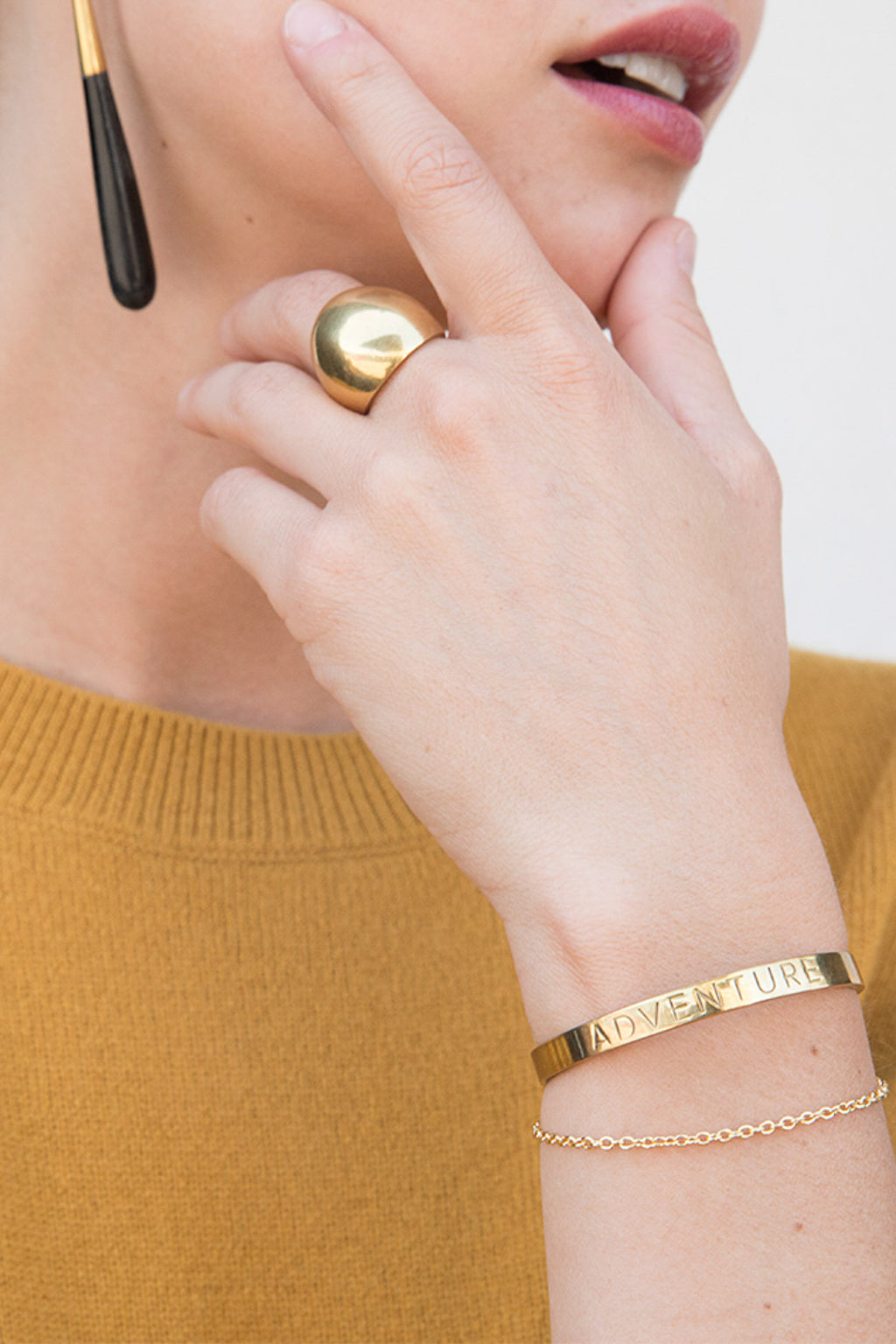 Soko Kuba Ring in Brass