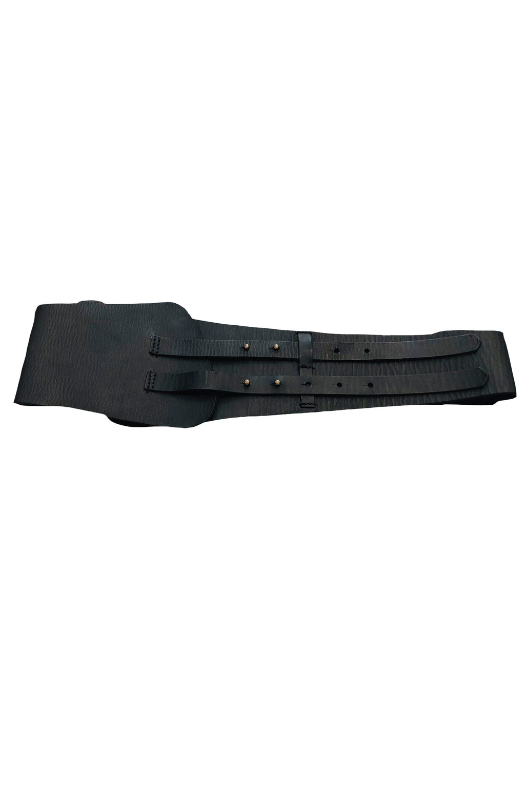 Forte Forte Brassiere Leather Belt in Black