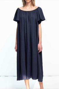 Loup Charmant Midi Hydrus Dress in Midnight
