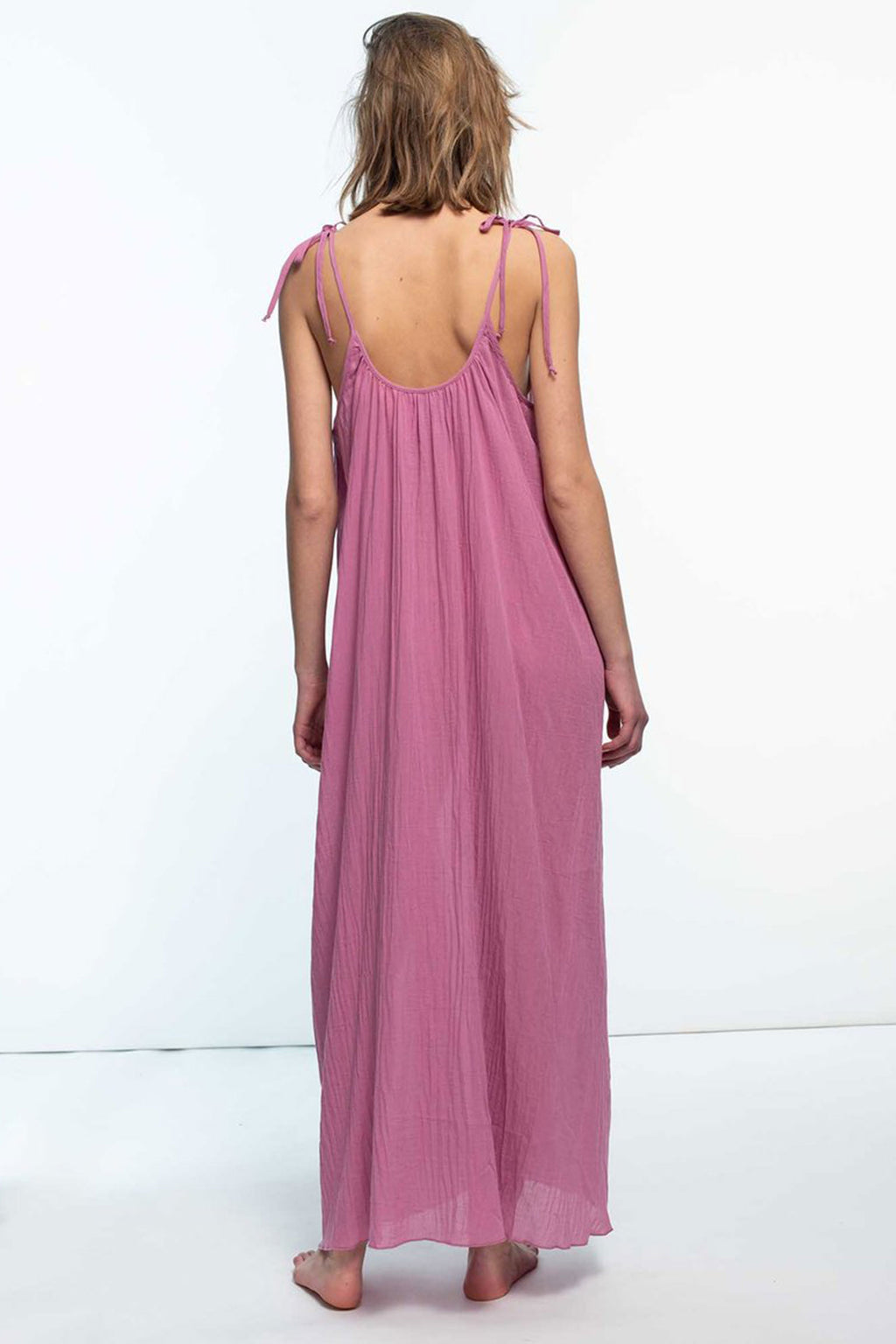 Loup Charmant Maxi Slip Dress in Raspberry