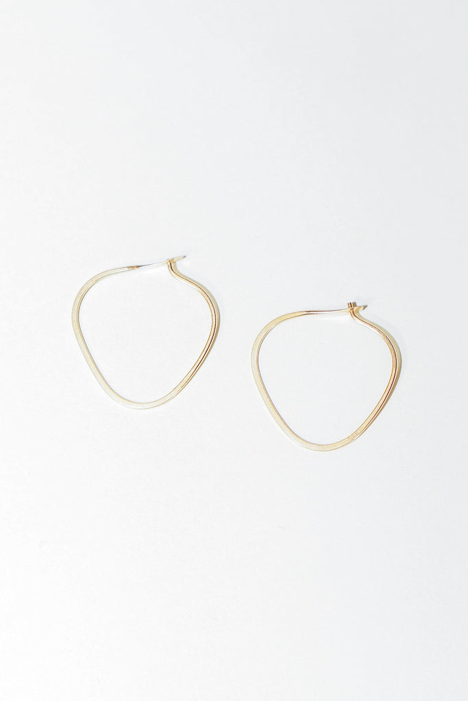 Melissa Joy Manning 14K Yellow Gold Small Triangle Hoop Earring