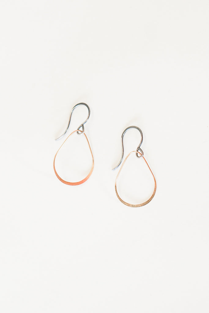 Melissa Joy Manning Mixed Gold Teardrop Earrings