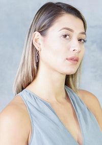 Melissa Joy Manning Gold and Silver Square Triangle Drop Earrings