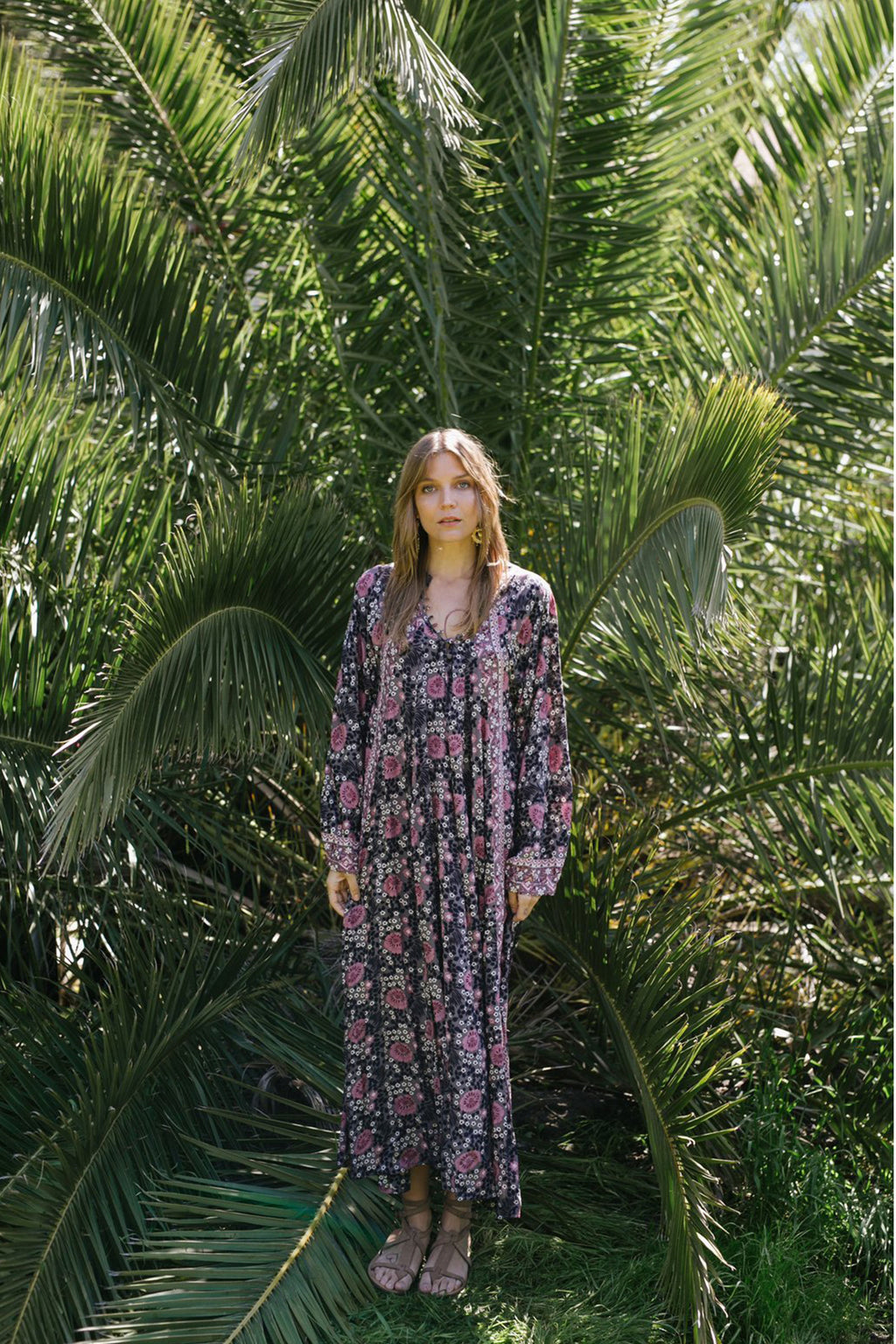 Natalie Martin Fiora Maxi Dress in Vintage Flowers Violet