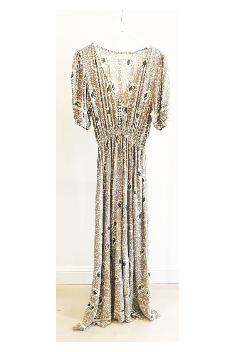 Natalie Martin Laurie Maxi Dress in Vintage Silver Flowers