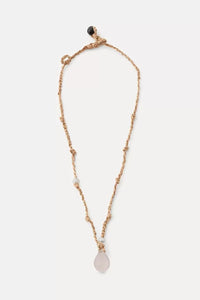 Forte Forte Beaded Silk and Quarzo Crystal Necklace