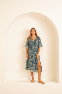 Natalie Martin Coco Dress in Silhouette Shallows