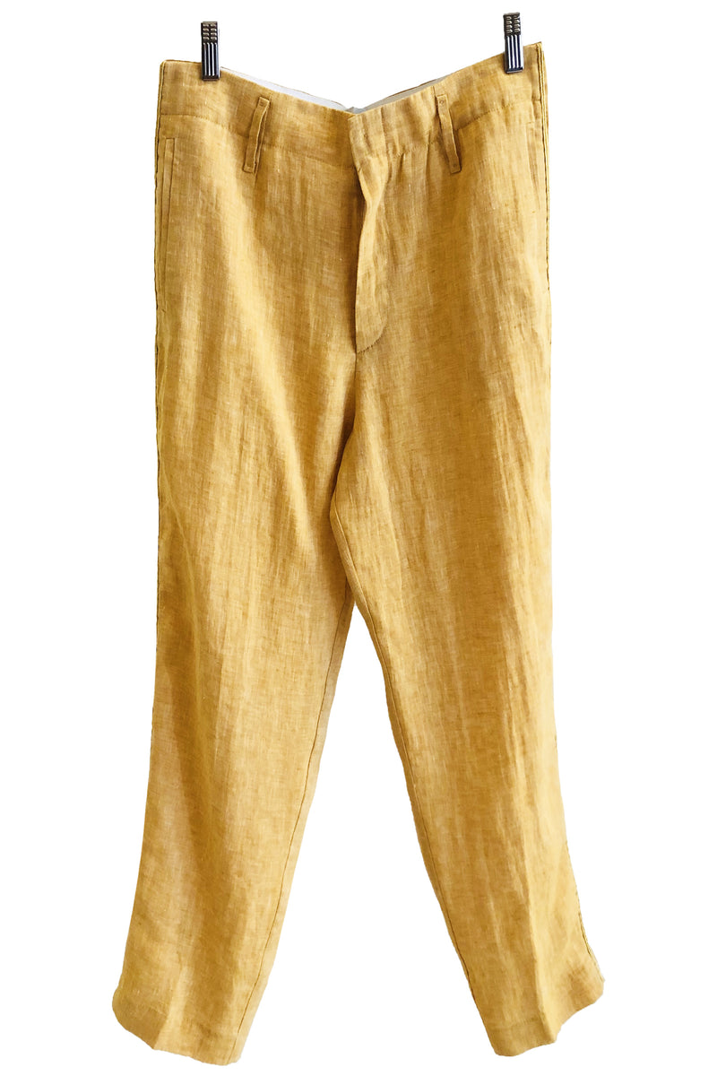 Forte Forte Shimmering Linen Pant with Bindings