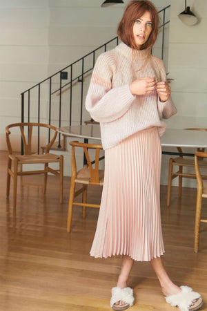 Xirena Sienna Pleated Skirt in Blush