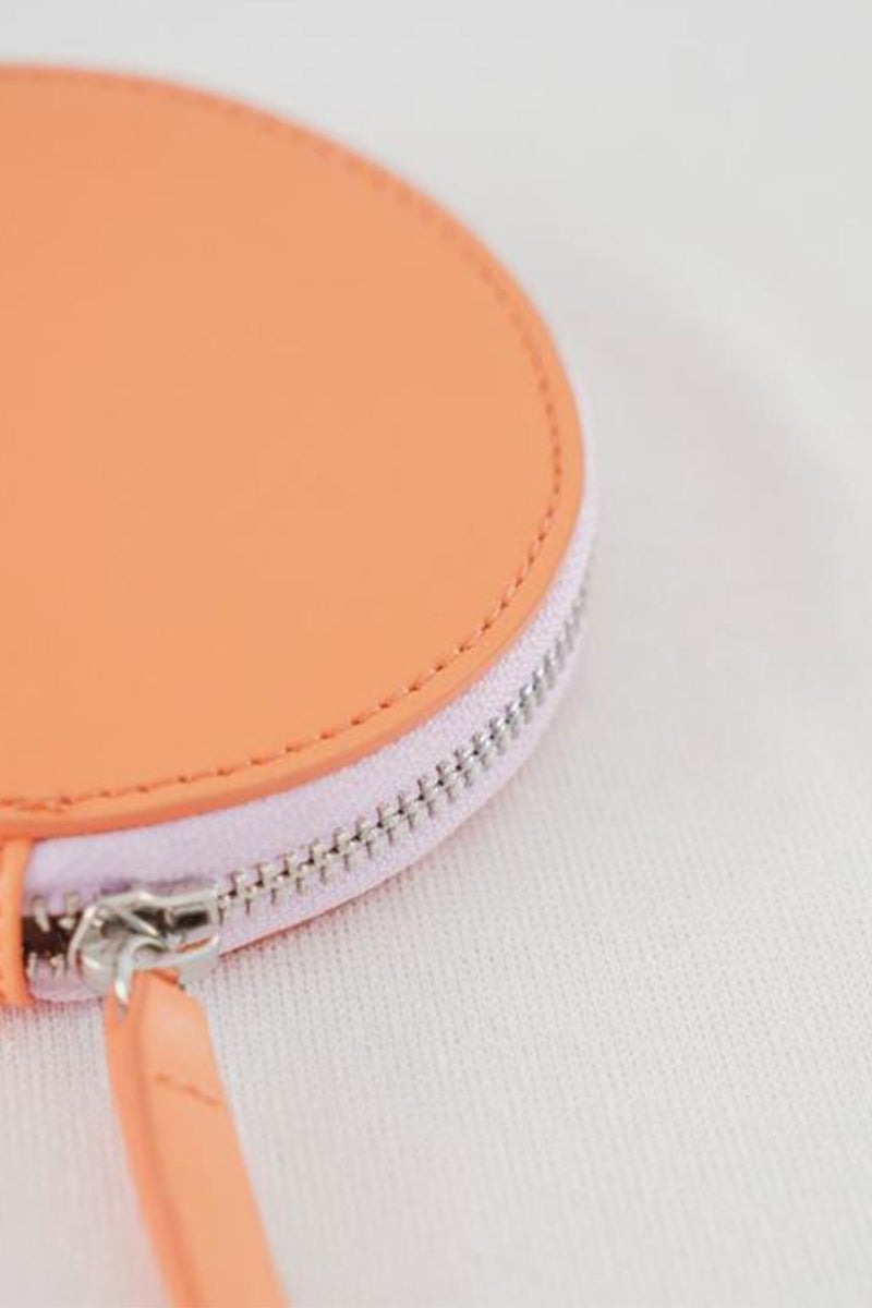 Baggu Circle Wallet in Orange Sherbet