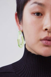 Rachel Comey Baby Factor Earrings In Clear Neon Yellow