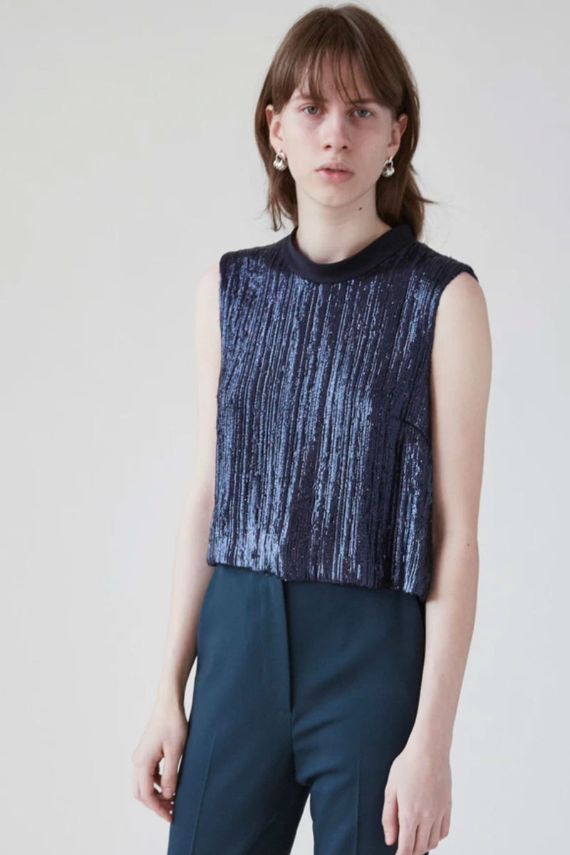 Rachel Comey Cropped Una Top in Midnight