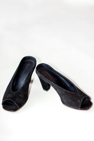 Rachel Comey Suede Rouse Slip On Kitten Heels in Black