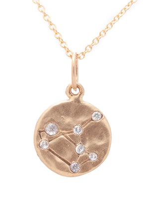 Valley Rose Sagittarius Constellation Necklace in White Sapphire