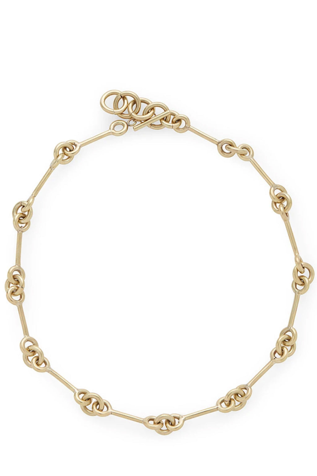 Soko Code Collar Necklace in Brass