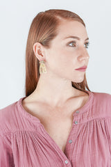 Seaworthy Ruby Earrings in Brass