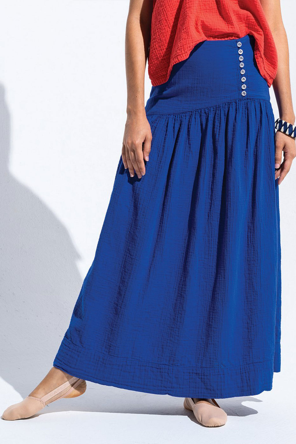 Atelier Delphine Cecilia Long Skirt In Majorelle Blue