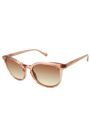 "Kate Young For Tura ""Nadia"" Sunglasses in Brown"