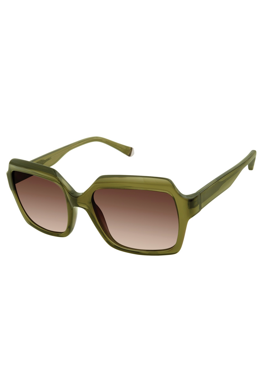 "Kate Young For Tura ""Toni"" Sunglasses in Khaki"