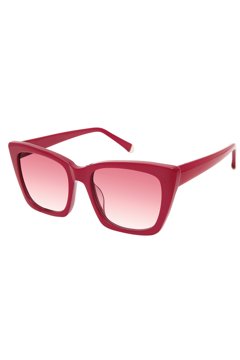 "Kate Young For Tura ""Gemma"" Sunglasses in Red"