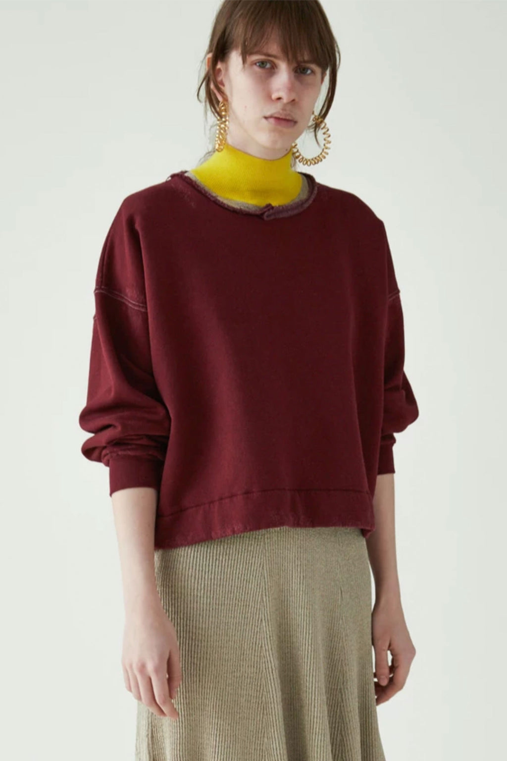 Rachel Comey Mingle Sweatshirt in Burnt Umber