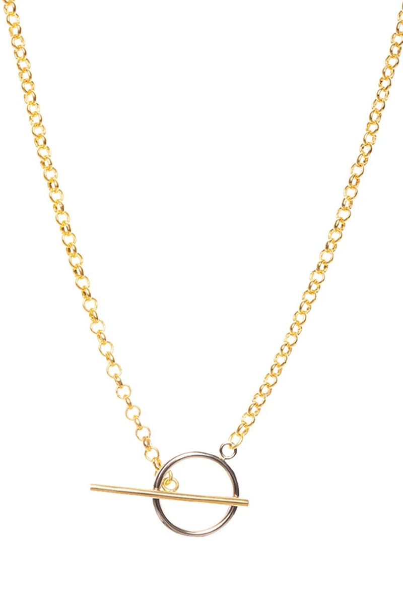 Soko Gold/Silver Plated Mini Taji Mixed Metal Necklace