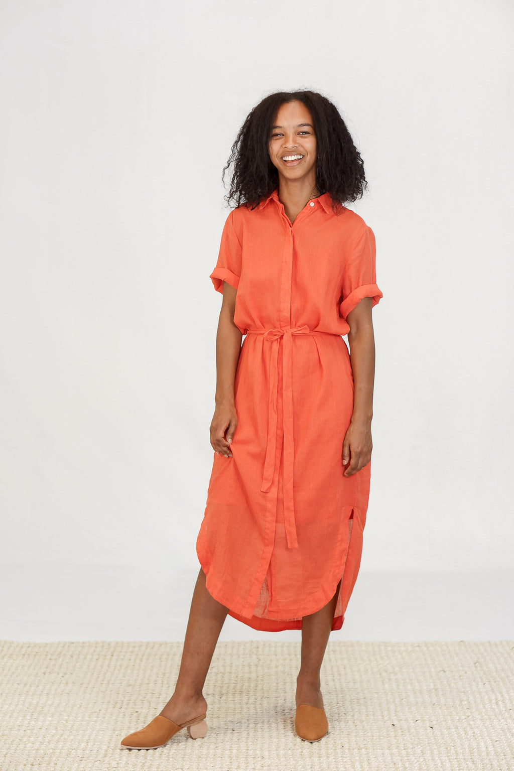 Trovata Florence Shirt Dress in Poppy