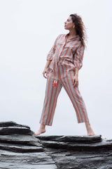 Trovata Ingrid B Jumpsuit in Rust Stripes
